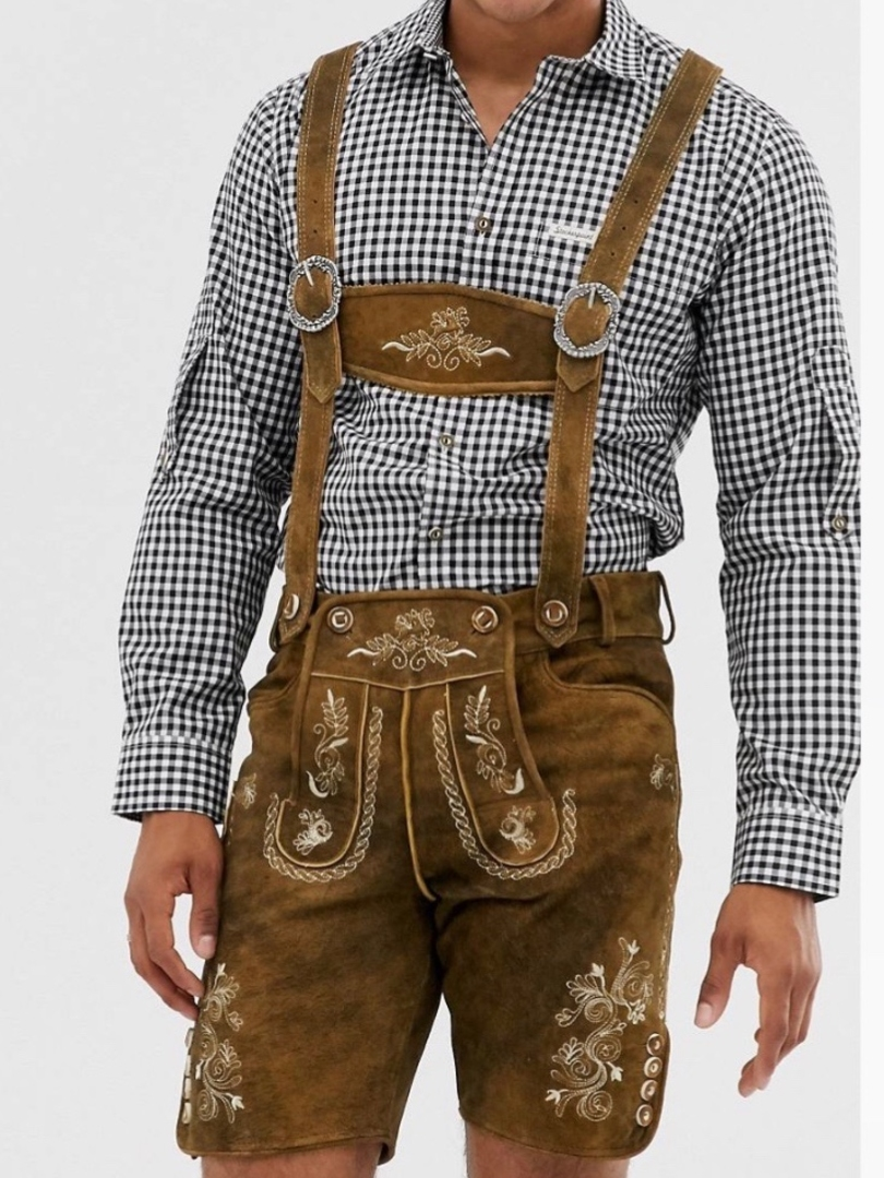 Bavarian lederhose costume for Oktoberfest shorts
